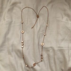 Kate Spade necklace rose gold